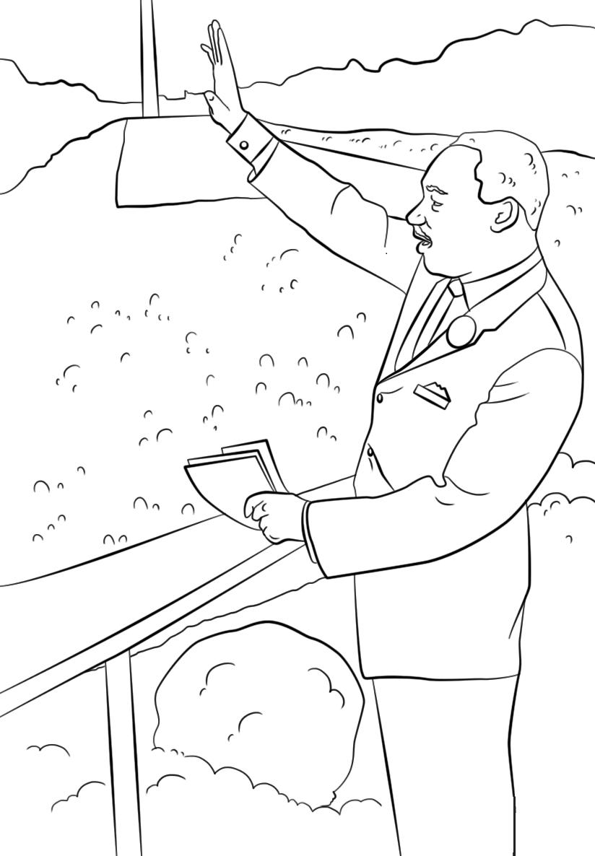 Free Printable Martin Luther King Jr Day Mlk Sketch ...